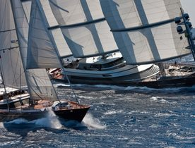 Charter yachts head to Sardinia for Perini Navi Cup 2018