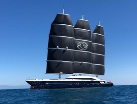 World's largest sailing yacht 'Black Pearl' arrives in the Mediterranean
