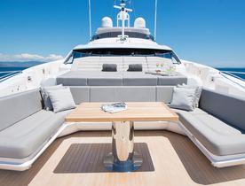 Sneak preview inside new-to-charter superyacht 'Aqua Libra'