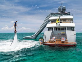 Luxury Yacht 'Zoom Zoom Zoom' Opens for a Christmas Charter in the Bahamas