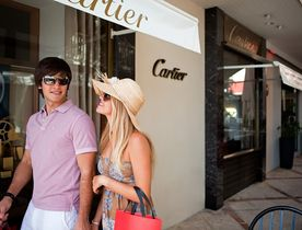 Exploring the designer boutiques of St Barts during a luxury yacht charter