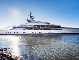 Video: Oceanco's 109m superyacht 'Project Bravo' hits the water