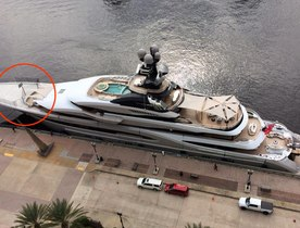 Superyacht Kismet features Basketball Hoop for Sporting Charterers