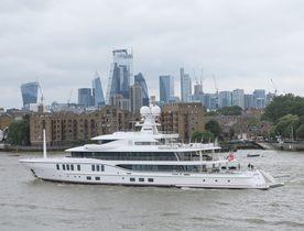Amels superyacht 'Sixth Sense' arrives in London