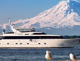 Alaska yacht charter vacations available on Broward luxury yacht BLACKWOOD