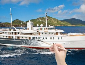 Iconic Superyacht SHERAKHAN Undergoing Exciting Refit