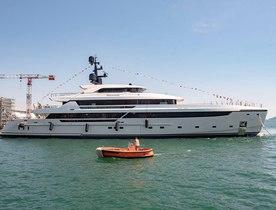 62m Sanlorenzo superyacht LAMMOUCHE launches in La Spezia