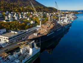 First on board: YachtCharterFleet tours 182m research and expedition yacht REV Ocean at VARD shipyard, Norway