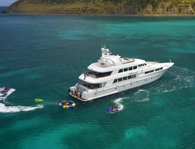 Superyacht 'Nicole Evelyn' available for New Year's Eve charter in the Bahamas