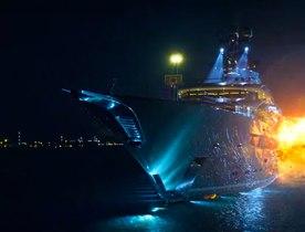 Superyacht KISMET gets blown up in '6 Underground' movie