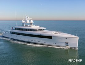 New photos: 58m Feadship superyacht NAJIBA on sea trials