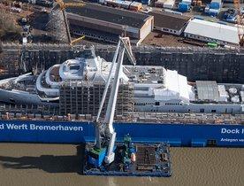 Lloyd Werft's 140m superyacht SOLARIS hits the water