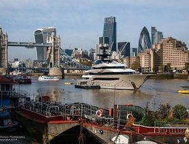 Charter Yacht KISMET Delivered and Spotted in London