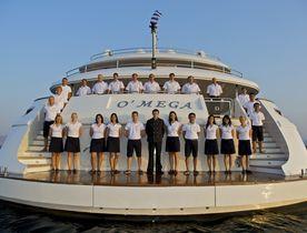 Charter Yacht O'MEGA Available for Monaco Grand Prix