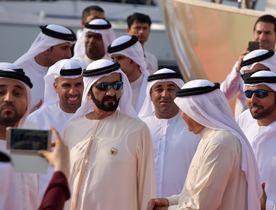 Sheikh Mohammed Visits Dubai International Boat Show 2017