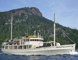 Superyacht 'PACIFIC YELLOWFIN' has August Availability in British Columbia