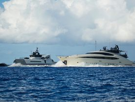 Motor Yacht VANTAGE & Support Vessel AD-VANTAGE Available In South Pacific