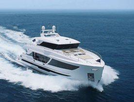 Horizon's brand new motor yacht Aqua Life joins Caribbean charter fleet