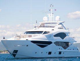Brand new Sunseeker superyacht 'Lady M' joins global charter fleet