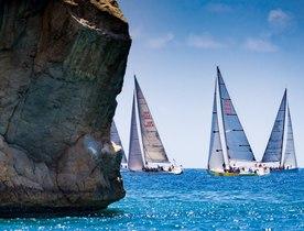 Sailing yachts prepare for Les Voiles de Saint Barth 2018