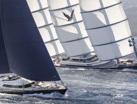 Charter yacht 'Maltese Falcon' triumphs at Perini Navi Cup 2018