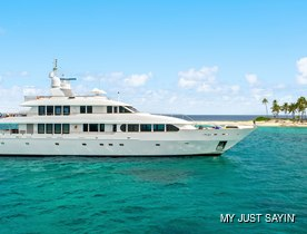 Recently refitted 40m motor yacht JUST SAYIN': now available for New England charters this summer