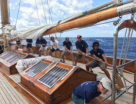 Experience a regatta yacht charter on board sailing yacht EROS