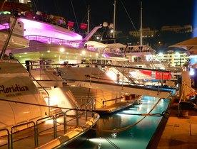 Yachts at Monaco Grand Prix 2013