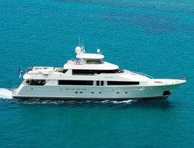 Motor yacht ARIOSO has charter gap this summer in the Bahamas