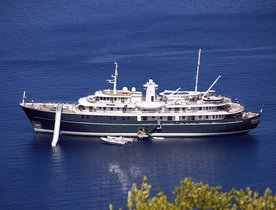 Caribbean Charter Fun with Superyacht SHERAKHAN's New Waterslide