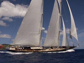 Sail Yacht METEOR in Caribbean