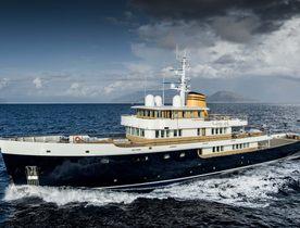 Brand new for charter: 56m explorer yacht 'Blue II'