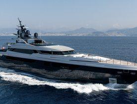 Superyacht SARASTAR opens for charter in the Mediterranean
