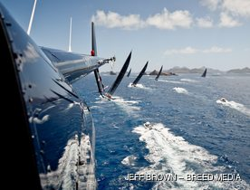 Charter Yachts Do Battle at St Barths Bucket 2017