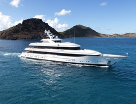 Superyacht LADY BRITT Cruising in the Caribbean