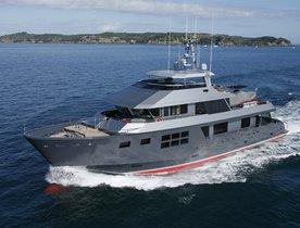 Award-winning superyacht AKIKO available to charter in Australia