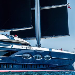 World's largest sailing yacht 'Black Pearl' arrives in the