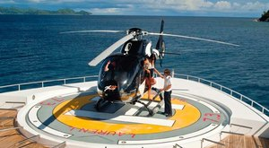 luxury motor yacht LAUREN L helipad