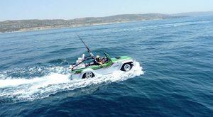 Watercraft's Panther - Fastest Amphibious Car - cruising in water