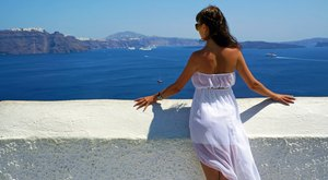 choose santorini and/or mykonos for a greece luxury yacht charter