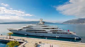 First Images of 140m Superyacht 'Ocean Victory' in Montenegro