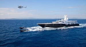 Feadship Superyacht AIR At Anchor in Ireland near Cork