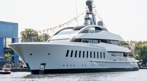Superyacht Halo launched by Feadship