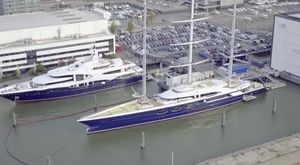 Video: Brand New Footage Of Oceanco Project Y715 and Sailing Yacht SOLAR