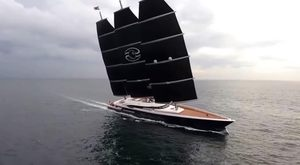 World's largest sailing yacht 'Black Pearl' delivered