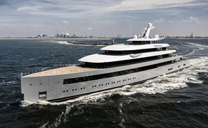 100m Feadship superyacht MOONRISE sets off on sea trials