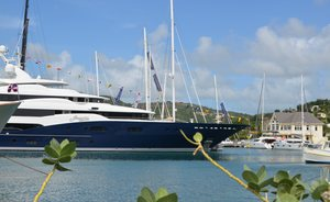 Superyachts get ready for the Antigua Charter Yacht Show 2018