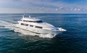 39m (128ft) motor yacht SHOGUN is available to charter for the first time in the USA