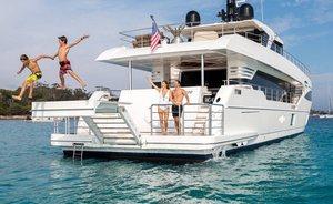 Brand new charter yacht ONEWORLD impresses at Sanctuary Cove International Boat Show