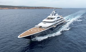 111m charter yacht TIS: the largest superyacht set to attend the 2019 Monaco Yacht Show